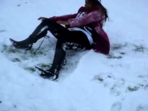 Cute Desi girl in snow