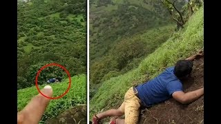 Youth Stuck On Visapur Fort Lonavala Rescued By Shivdurg Team After Five Hours