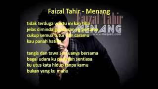 Faizal Tahir - Menang (Lirik) OST Akadku Yang Terakhir)