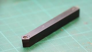 How to make carbide insert tool holder for cutting 45° edges lathe diy