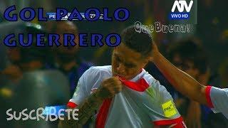Gol de Paolo Guerrero (75') Perú 1 - 1 Colombia (NARRACIÓN PERUANA ATV)