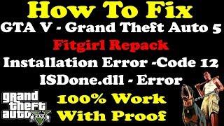 How To Fix | GTA 5 | ISDone.dll Error | Installation Error | Lolly Repack Fitgirl