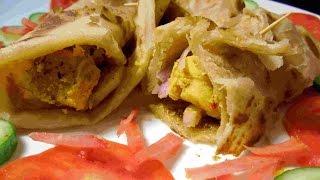 Chicken Tikka Paratha Roll - Roll Paratha -Laccha  Paratha Roll Recipe