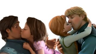 Disney Princess Kiss - Anna Rapunzel Jasmine Frozen Tangled