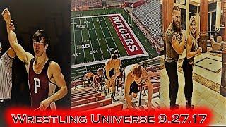 Wrestling Universe 9.27.17:  Meyer commits; Rutgers prepares; Brooke shows off!!!