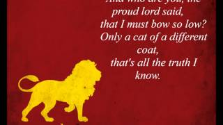 The Rains of Castamere / Lannister Song (LYRICS) HD