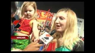 Sandesh News - foreigners have come to enjoy navratri at YMCA club this year 2013