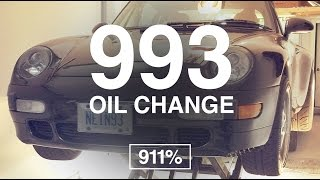 Porsche 993 Oil Change DIY | EP013