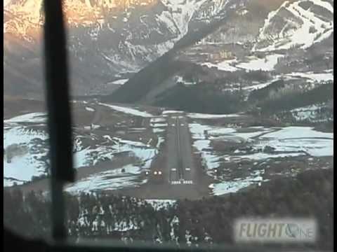 FlightOne Air Charter Landing at Telluride Airport