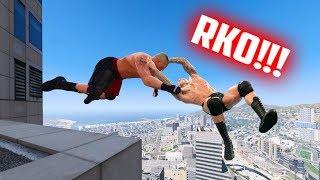 GTA 5 WRESTLING LIKE IN WWE #15 (Powerbomb, AA, RKO, and more!)