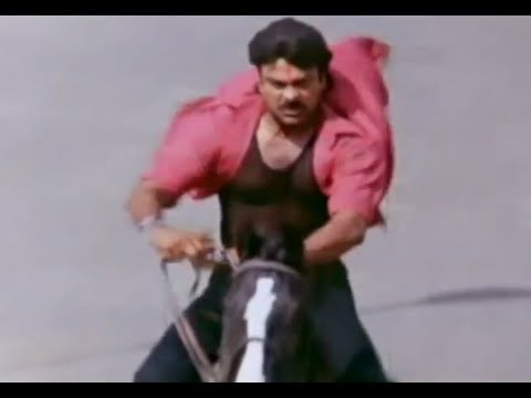 Alluda Majaka Telugu Movie Scenes | Chiranjeevi Horse Ride | Ramya Krishna | Ramba