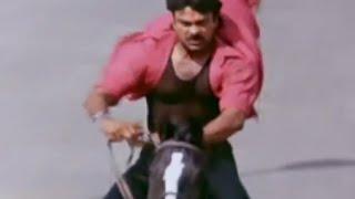 Alluda Majaka Movie Scenes - Chiranjeevi horse ride - Ramya Krishna, Ramba