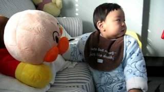 16 months - kiss kiss bread superman
