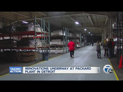 Renovations underway at the Packard Plant