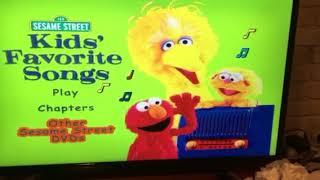 Sesame Street Kids Favorite Songs 2001 DVD Menu Walkthrough