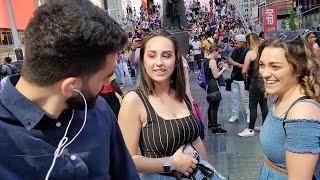 Staring at strangers awkwardly | مقلب نظرات غريبة نيويورك