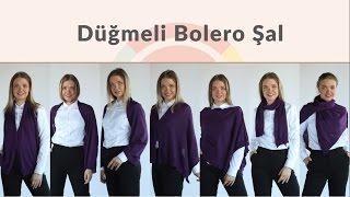 7 farklı kullanım şekliyle Düğmeli Bolero Şal Modanisa