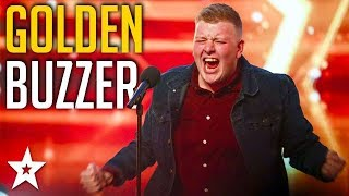 Nervous Welsh Opera Singer Gets GOLDEN BUZZER! | Britain