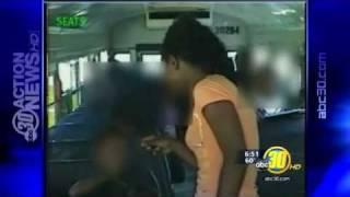 Mother slaps school bus bully