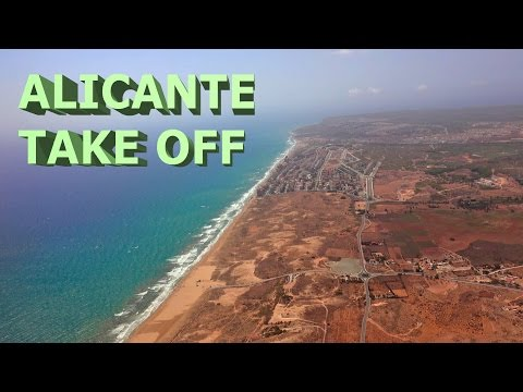 Takoff From Alicante Airport - 2016 4K