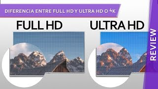 Diferencia entre Full HD y Ultra HD o 4K