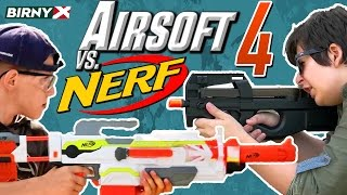 Airsoft vs Nerf 4 - Nerf War vs Airsoft Deathmatch - PART 1