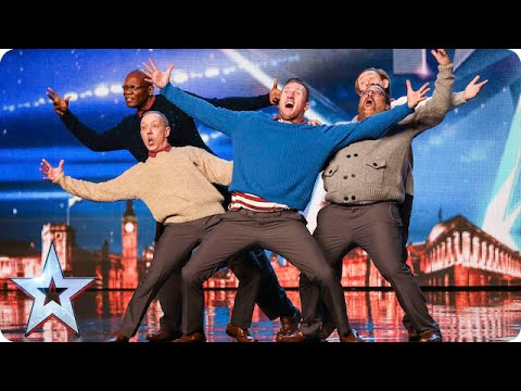 Old Men Grooving bust a move and maybe their backs Britain s Got Talent 2015