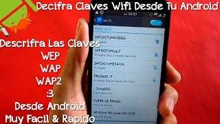 Descifrar Claves Wifi, Wep, Wap & Wap2 Desde Android - CesarGBTutoriales