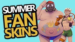 10 Best Overwatch Summer Fan Skins!