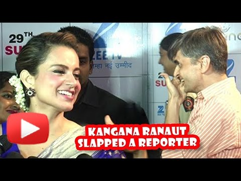 Kangana Ranaut SLAPS Reporter On Red Carpet | Funny Video