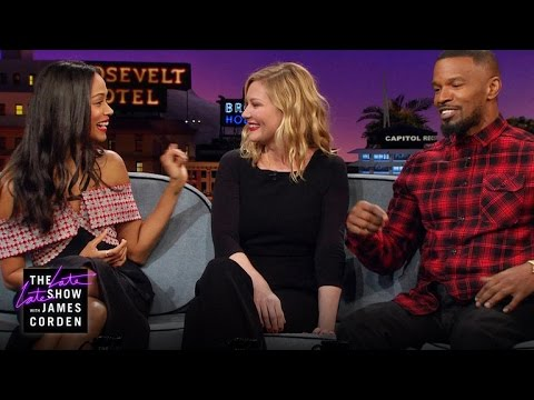 Zoe Saldana Kirsten Dunst & Jamie Foxx Have Kid Problems
