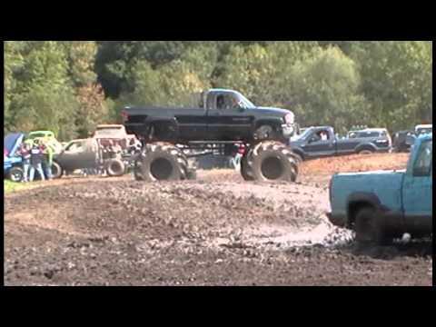 4x4 Camaro pops Wheelie out of mud hole