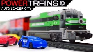 PowerTrains 41389 Auto Loader City Railway with Train & 4 Cars Toys VIDEO FOR CHILDREN
