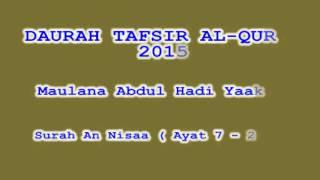 Daurah Tafsir Maulana Hadi   Sesi 83   Surah An Nisa  Ayat 7   21
