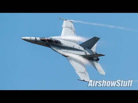 US Navy F/A-18F Super Hornet Demo - Melbourne Air and Space Show 2017