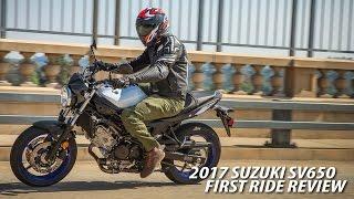 2017 Suzuki SV650A First Ride