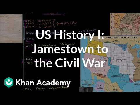 watch US History Overview 1: Jamestown to the Civil War