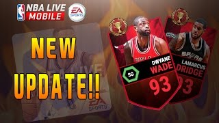 NBA LIVE Mobile NEW UPDATE!! LEAGUE vs LEAGUE MASTERS!!!