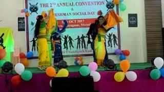 Dokhona Dance Perfomance at Freshman Social day,Chandigarh