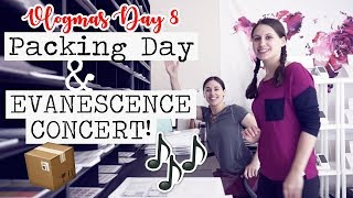PACKAGING DAY & EVANESCENCE CONCERT! || Vlogmas Day 8