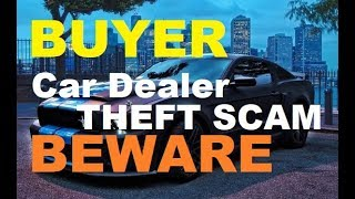 """Car Dealer """"Theft Protection,"""" VIN etch, Auto Window Etching Scam (How to buy a vehicle)"""
