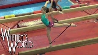 Bungee Cord Gymnastics on Balance Beam | Resistance Training | Whitney Bjerken