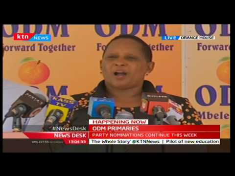 ODM announce results of the party primaries