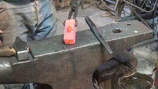 Forging a cross peen hammer