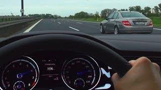 VW GOLF 7 R Onboard Acceleration German NO SPEED Limit Highway Autobahn Sound Volkswagen