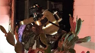 Video: Firefighters Respond to House Fire in Fort Pierce