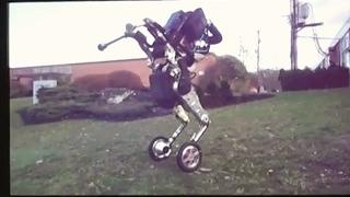 Boston Dynamics nightmare inducing wheeled robot Handle,  presentation video close-up   2017