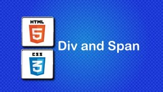 HTML5 and CSS3 Beginner Tutorial 19 - Div and Span