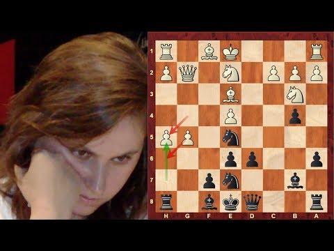 Judit Polgar Amazing Immortal game vs Shirov Sicilian Defense Paulsen Brilliancy