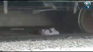 Man Stuck Under Running Train Escapes Unhurt at Anantapur Railway Station | Overseas News
